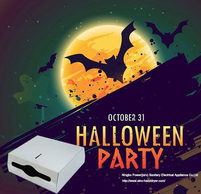 Halloween paper dispenser